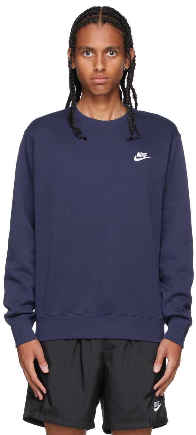 Navy Sportswear Club Sweatshirt