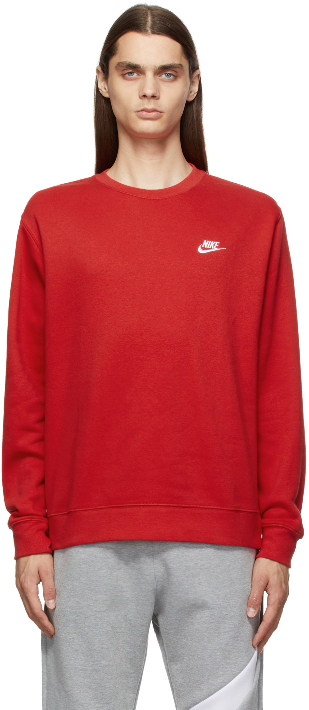 Red Sportswear Club Sweatshirt