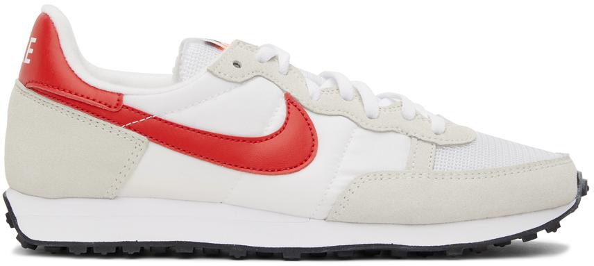 White & Red Challenger OG Sneakers