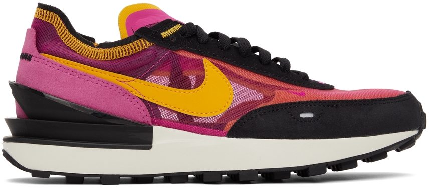 Purple & Orange Waffle One Sneakers