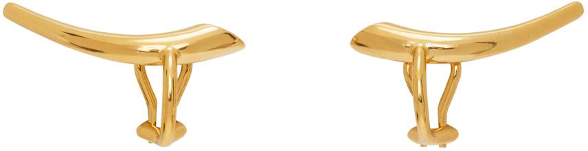 Gold Helix Clip-On Earrings