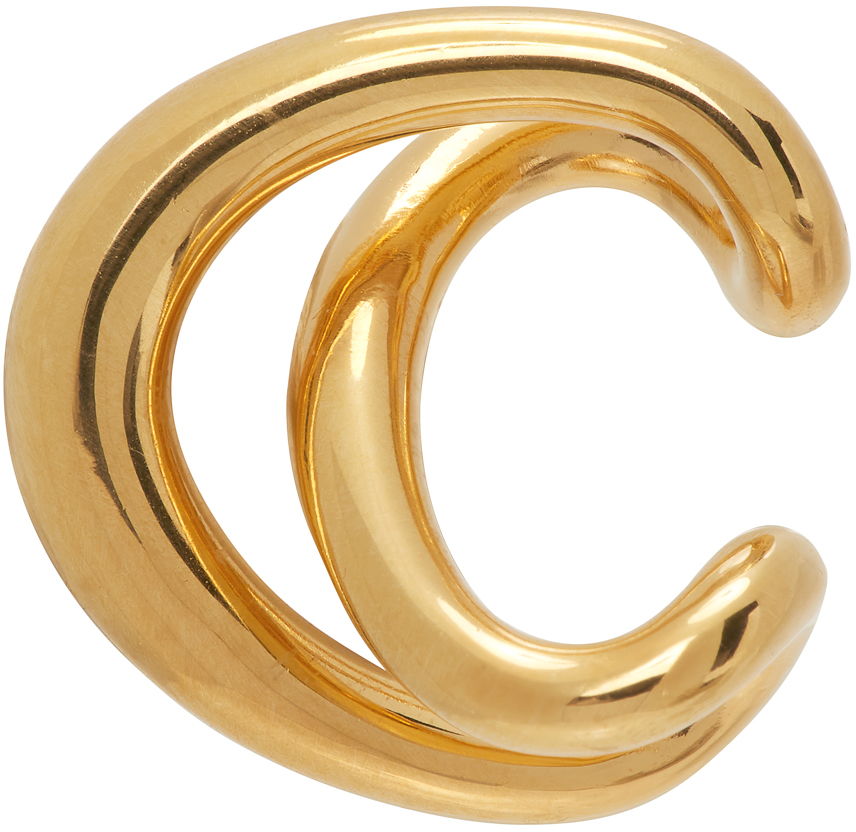 Gold Initial Ear Cuff