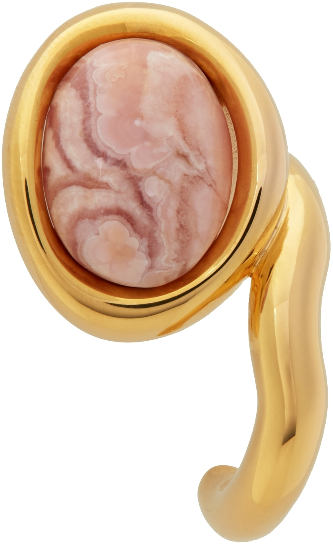 Gold Framed Neo Turtle Earrings