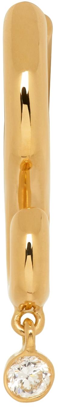 Gold Hook Diamond Single Earring