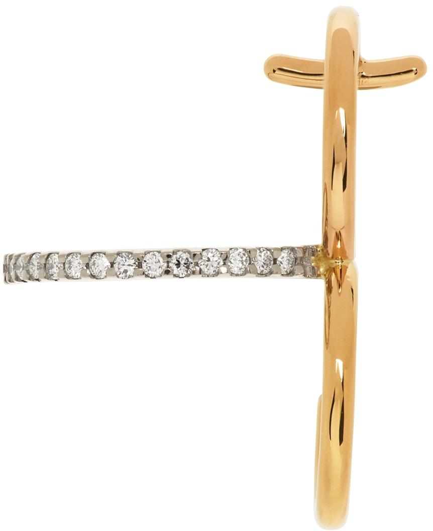 Gold Clover Diamond Single Earring