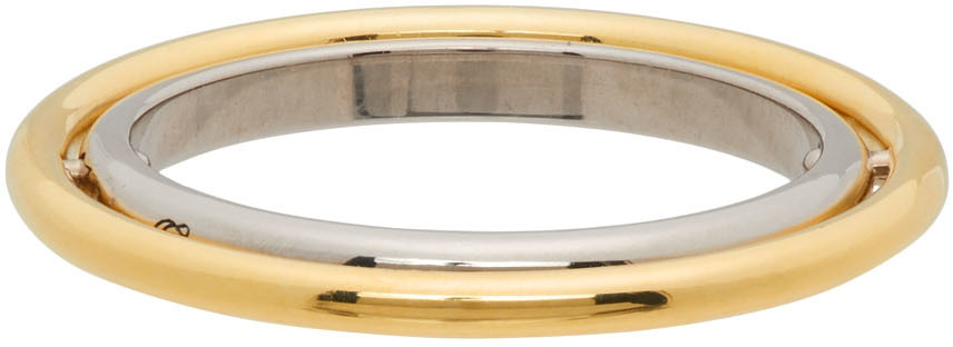Gold Elipse Ring