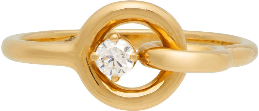 Gold Twin Solitaire Diamond Ring