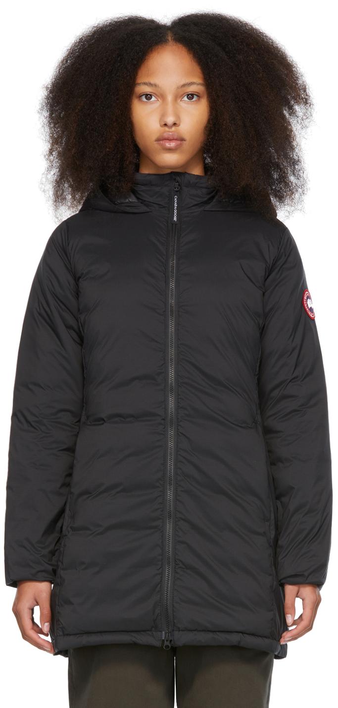 Black Down Camp Coat