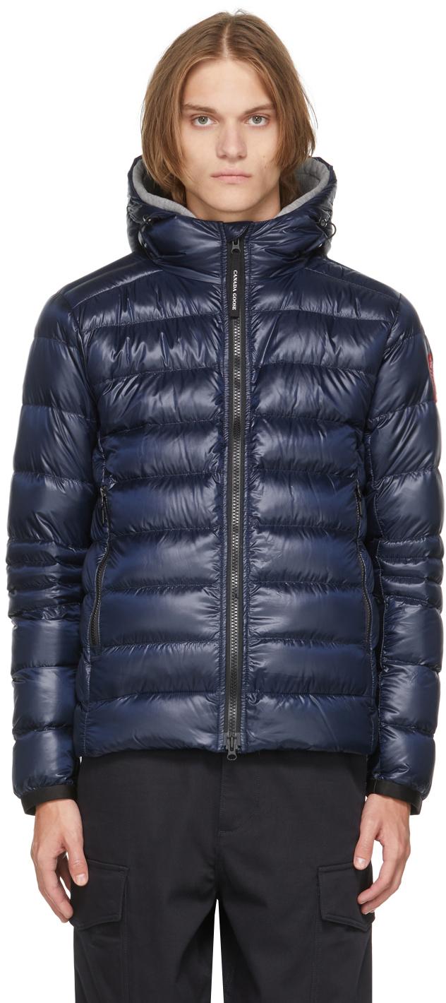 Navy Down Hooded Crofton Jacket