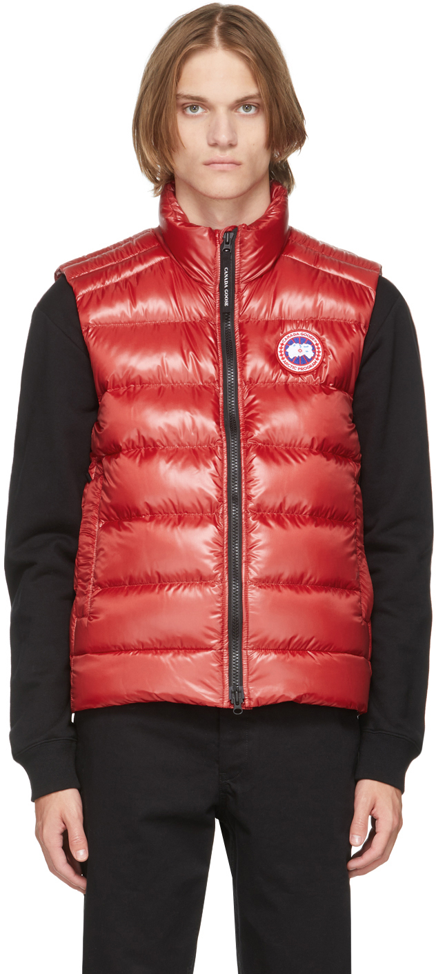 Red Down Packable Crofton Vest