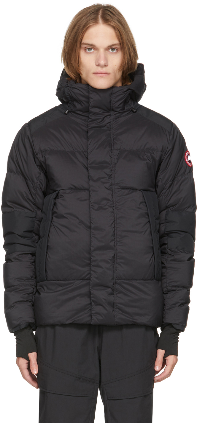 Black Down Packable Hooded Armstrong Jacket