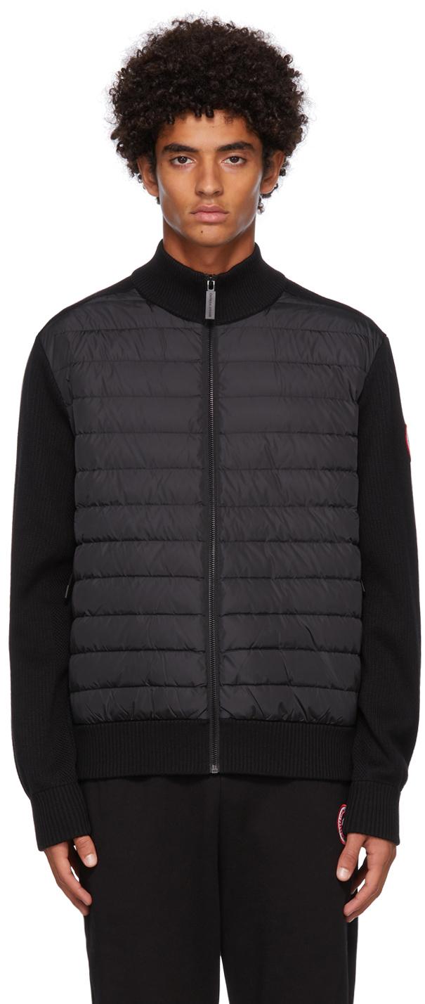 Black Hybridge Knit Jacket