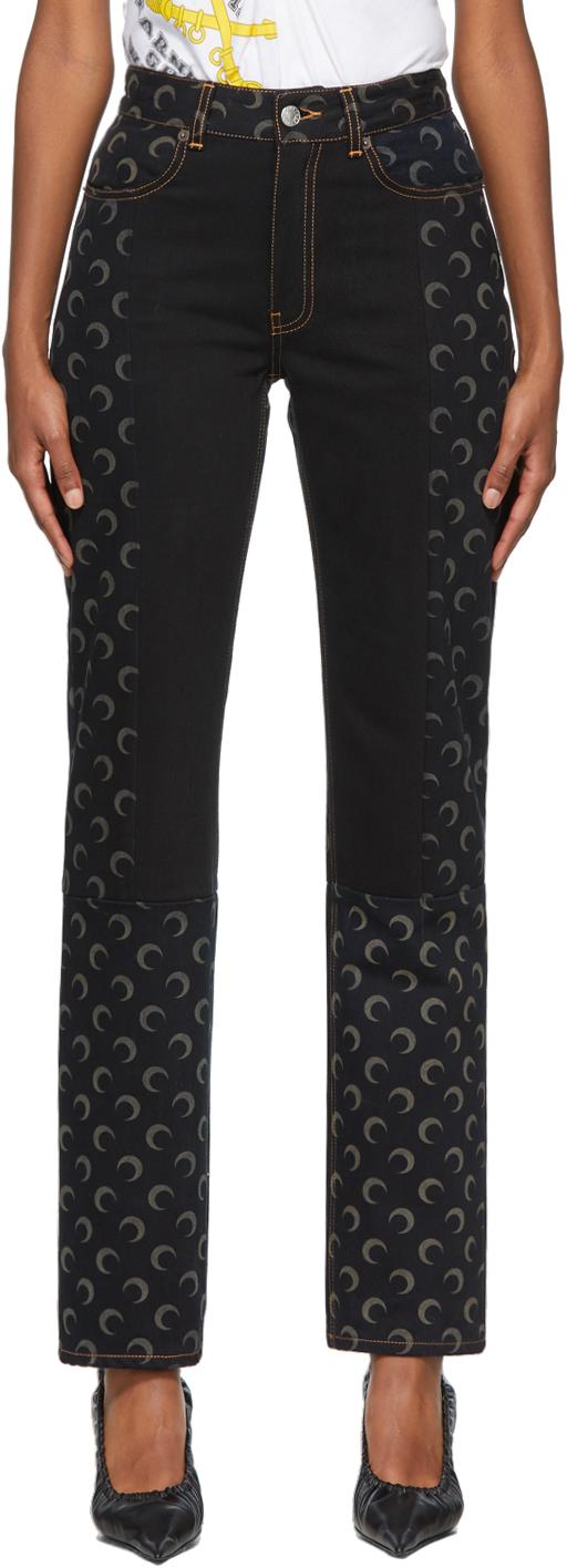 Black & Navy Regenerated Moon Jeans