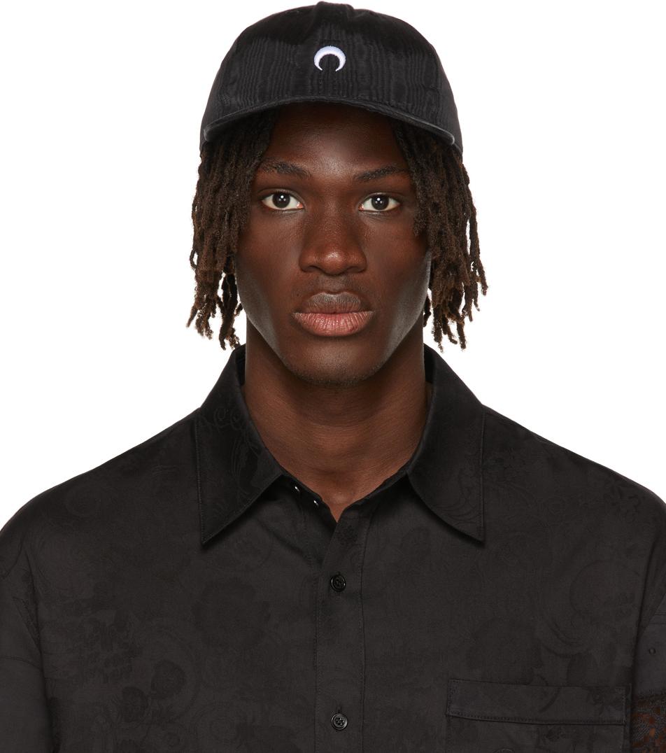 Black Moire Branded Cap