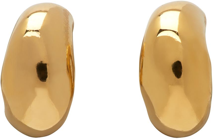 Gold Mini Dahlia Huggie Hoop Earrings