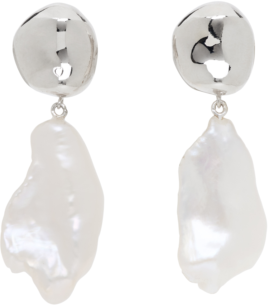 Silver Pearl Baroque Patrice Earrings