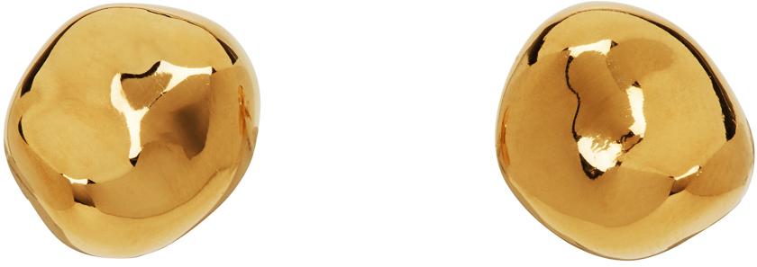 Gold Small Gia Stud Earrings