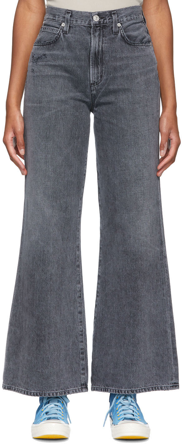 Grey Rosanna Wide Leg Jeans