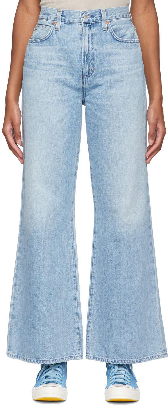 Blue Rosanna Wide Leg Jeans
