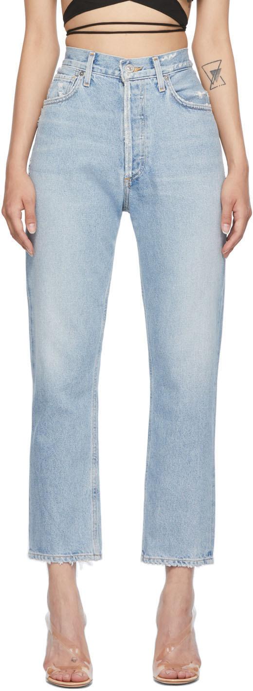 Blue High-Rise Charlotte Jeans
