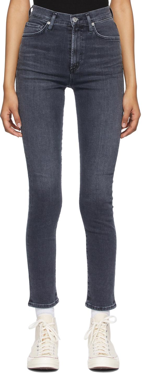 Black Olivia High Rise Slim Jeans
