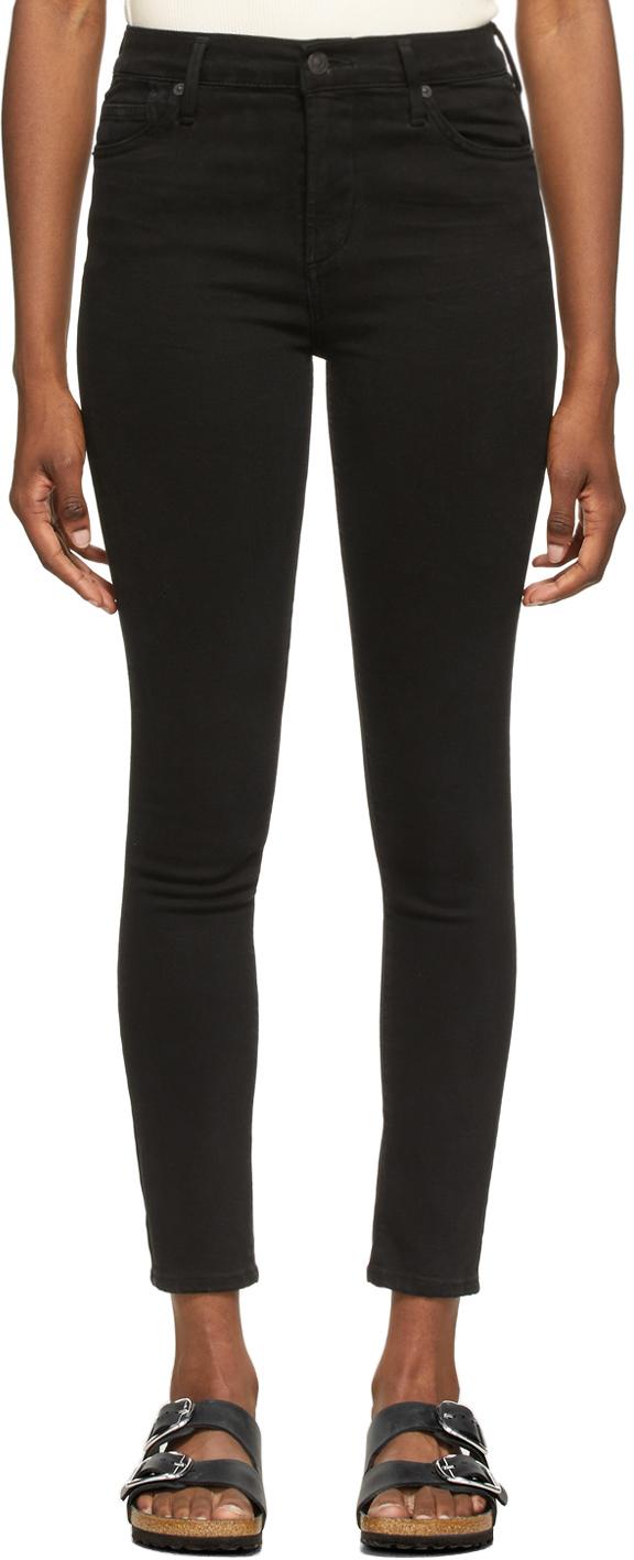Black Rocket Ankle Mid-Rise Skinny Jeans