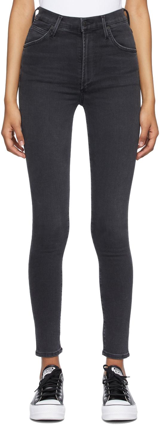 Black Chrissy High Rise Skinny Jeans