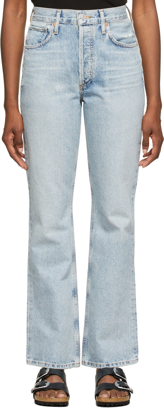 Blue Libby Relaxed Bootcut Jeans