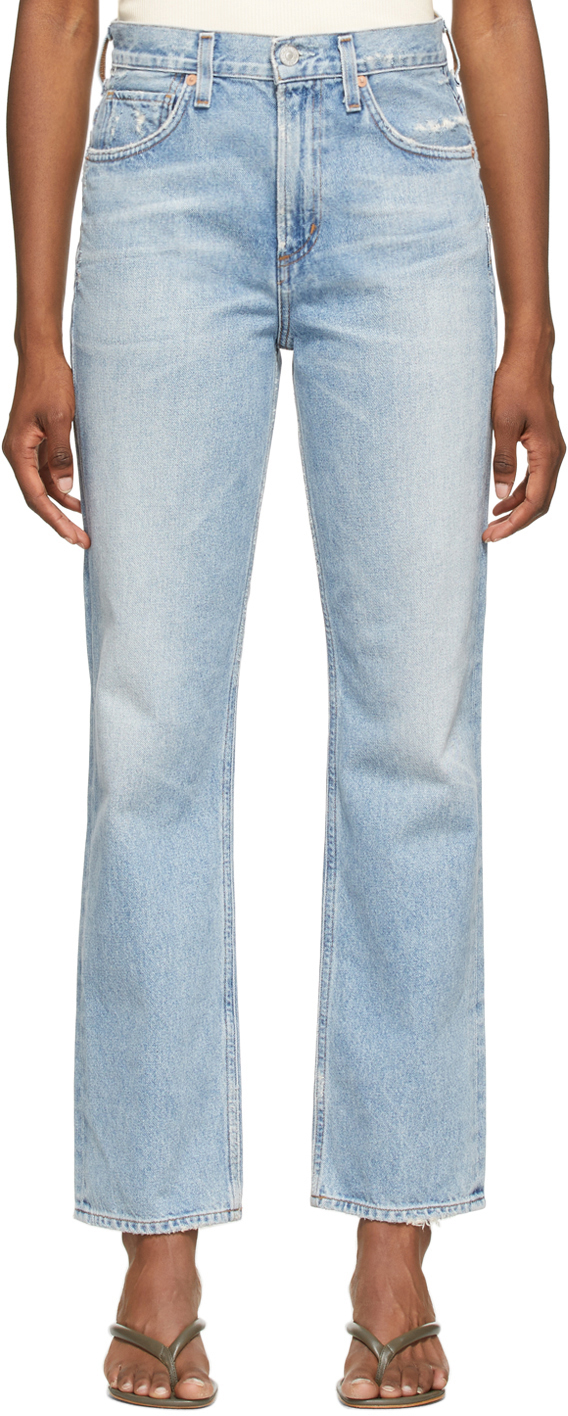 Blue Daphne High-Rise Stovepipe Jeans