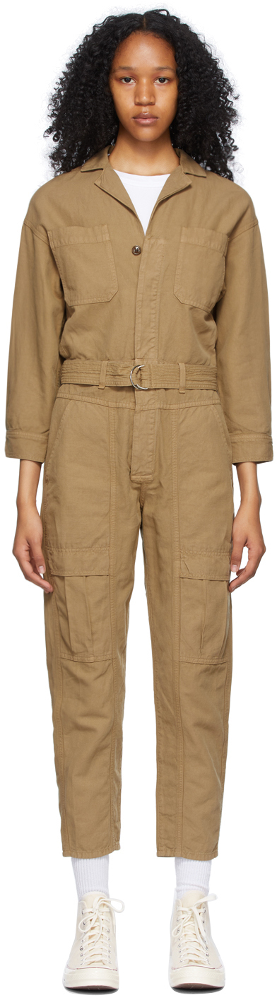 Brown Willa Utility Jumpsuit