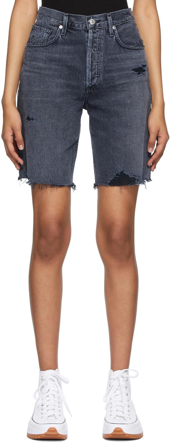 Black Denim Ambrosio Shorts