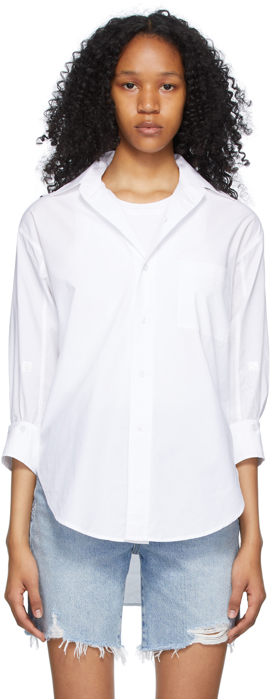 White Kaila Oversized Shirt
