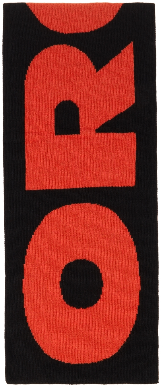 Black & Red Word Of Desire Scarf