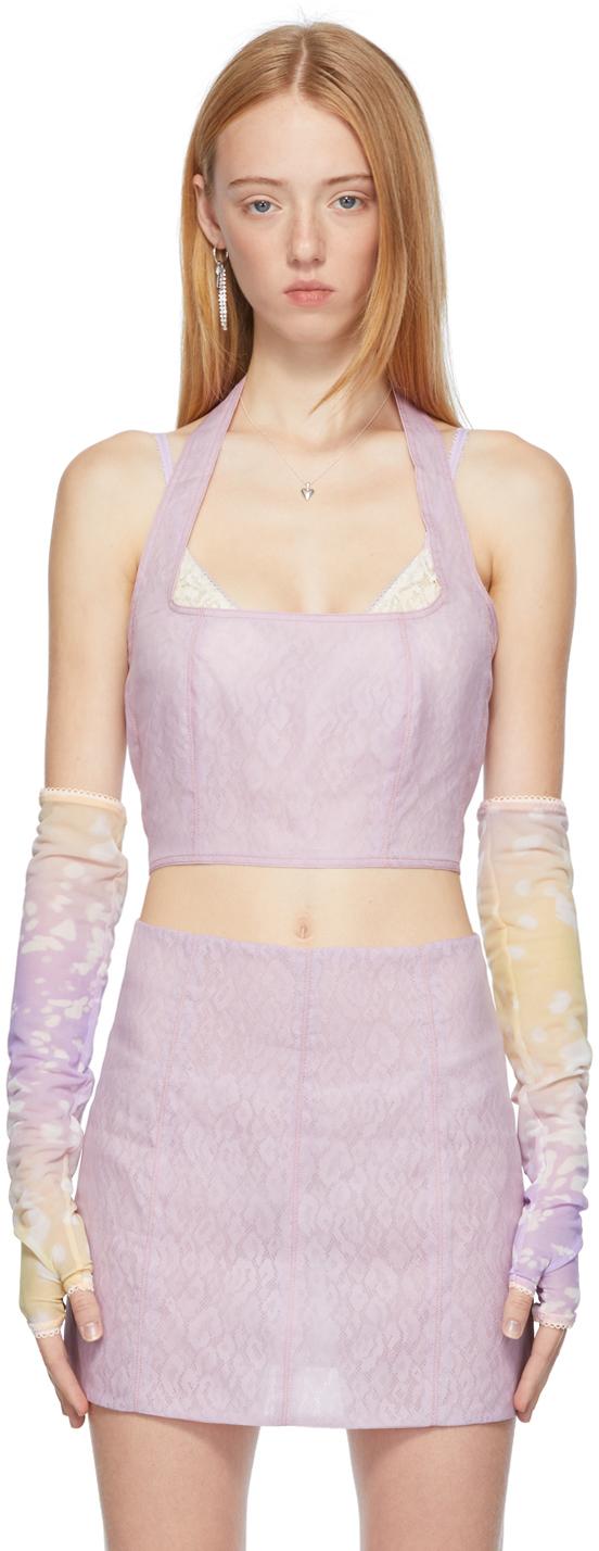Ichiyo SSENSE Exclusive Purple & Yellow Shadow Gloves