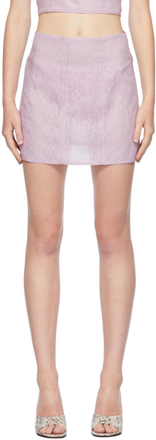 Ichiyo SSENSE Exclusive Purple Organza Miniskirt
