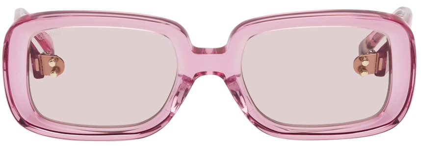 Pink Square Flame Sunglasses