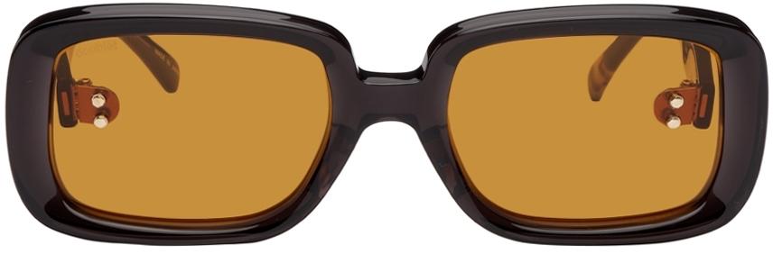 Black Square Flame Sunglasses