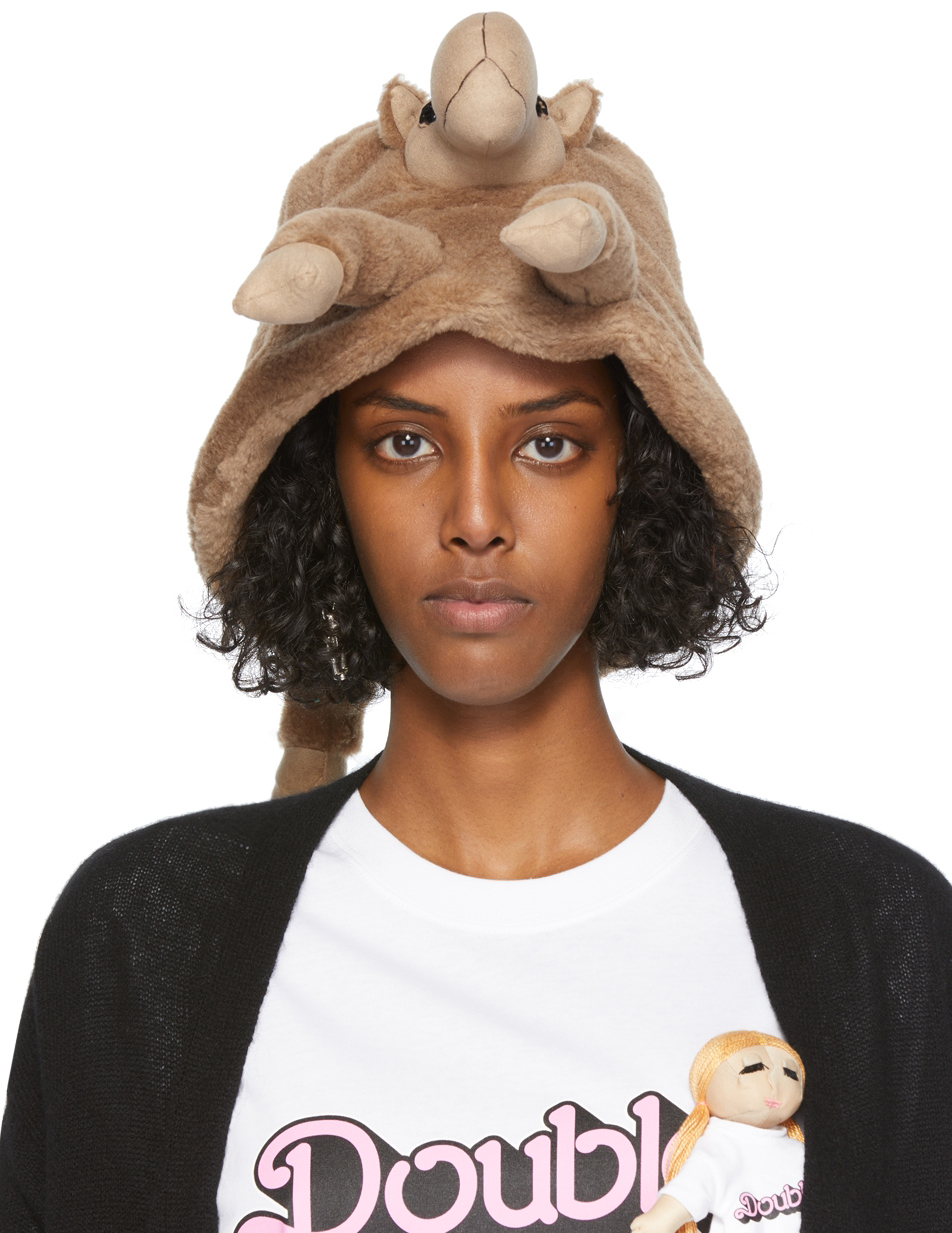 Tan Stuffed Animal Bucket Hat