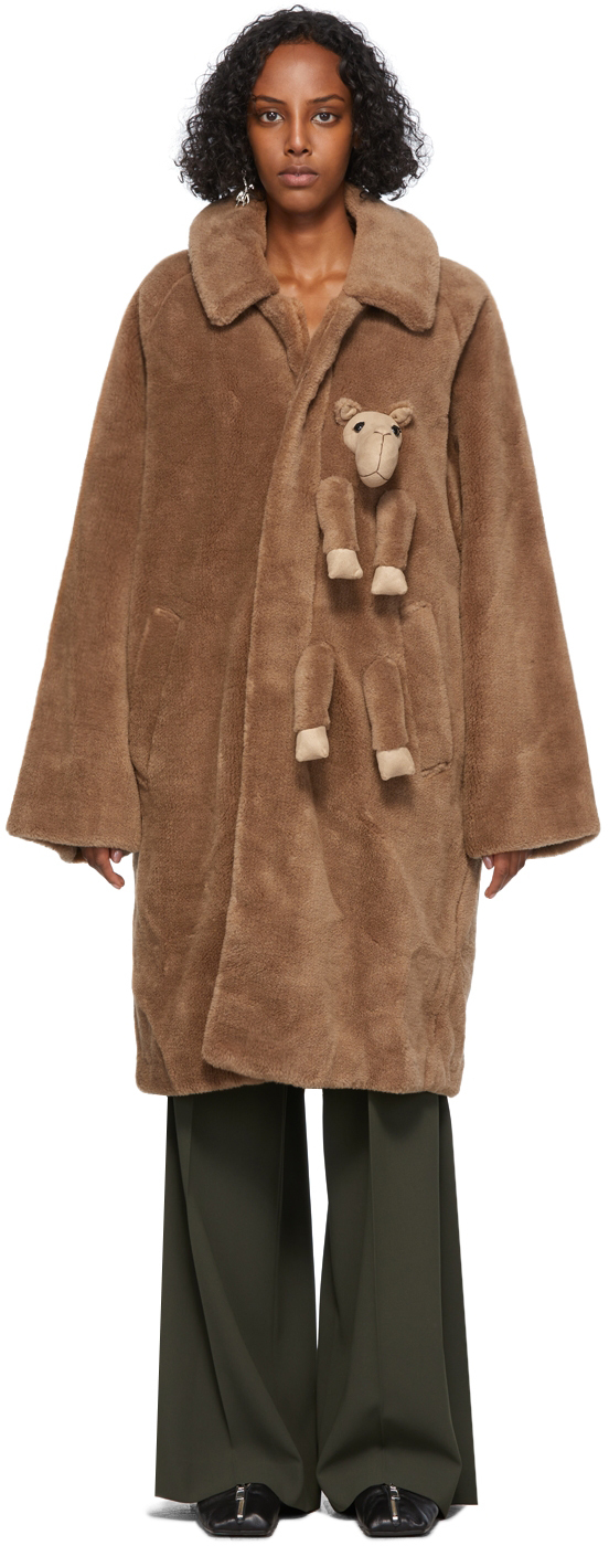 Tan Wool & Camel Stuffed Animal Coat