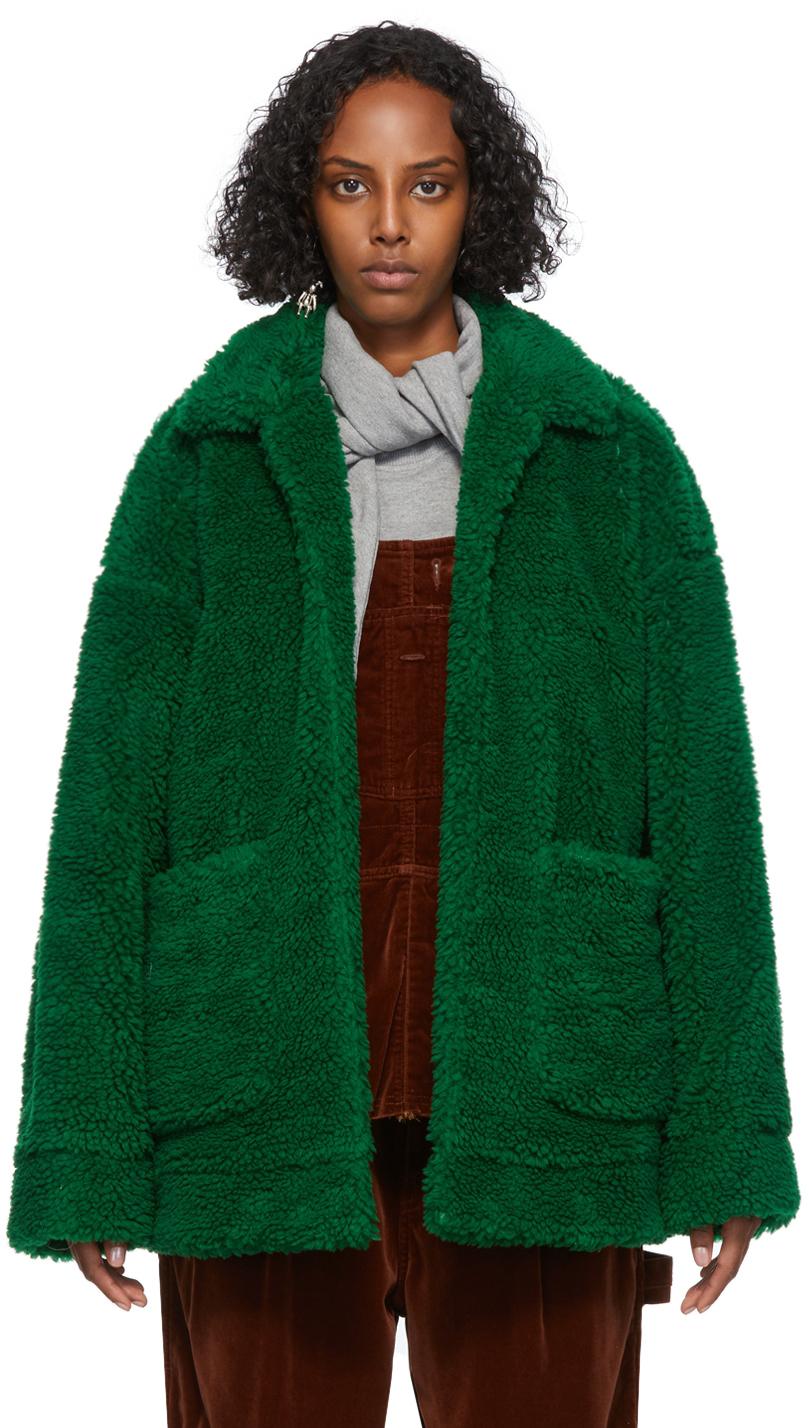 Green Sherpa Hand-Painted Jacket