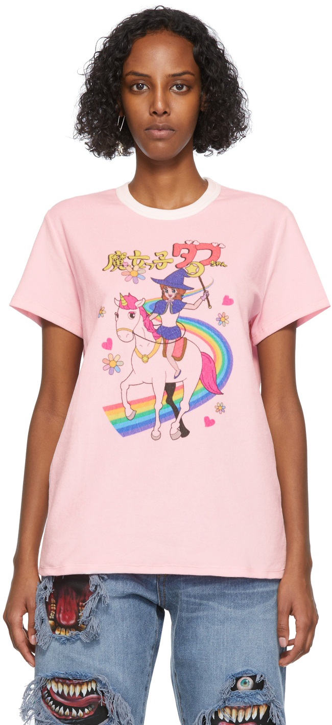 Pink Velour Anime Character T-Shirt