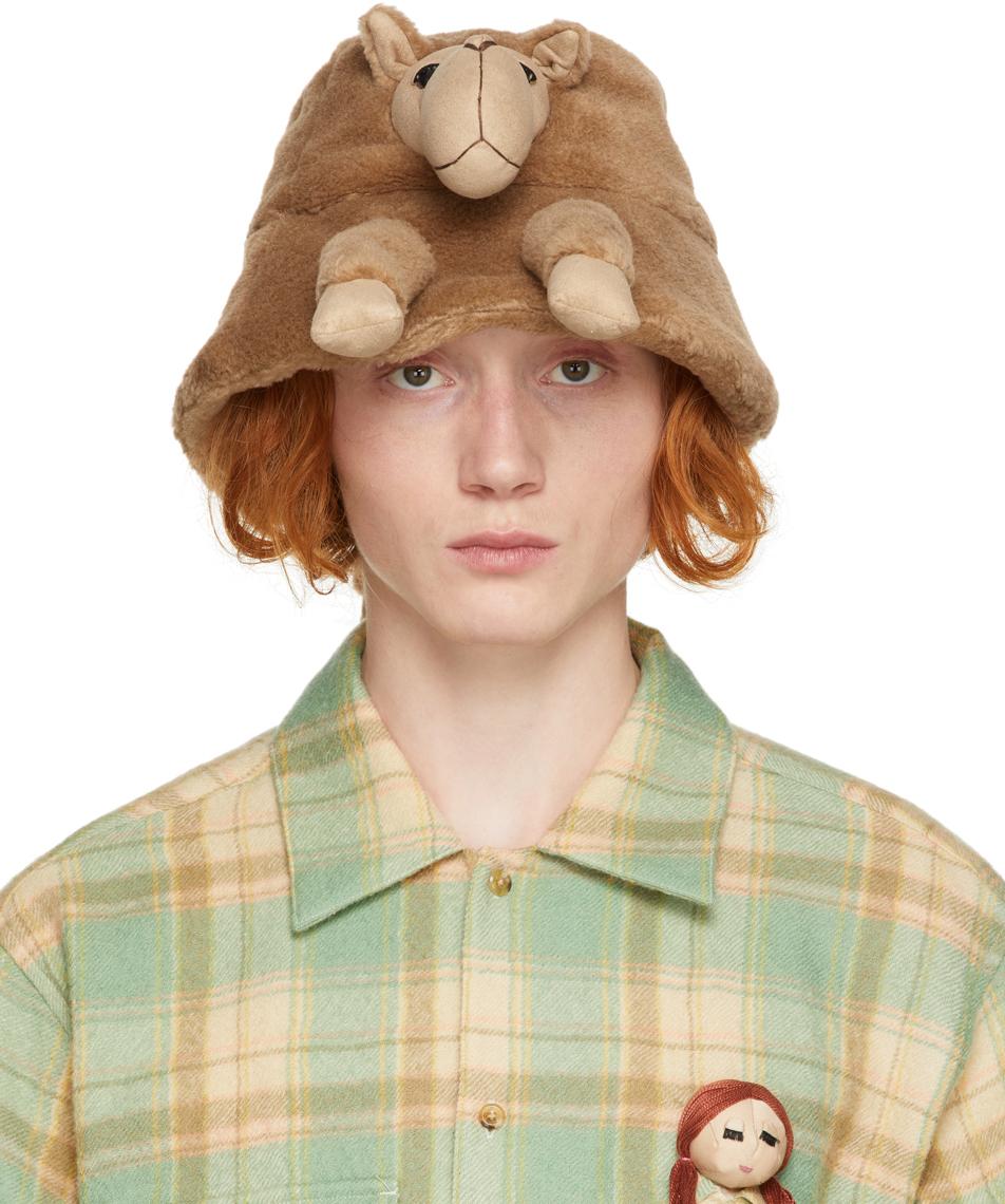 Brown Stuffed Animal Fur Hat