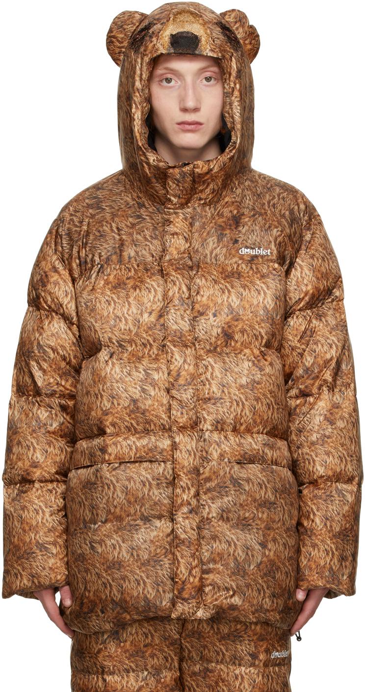 Brown Down Bear Costume Jacket