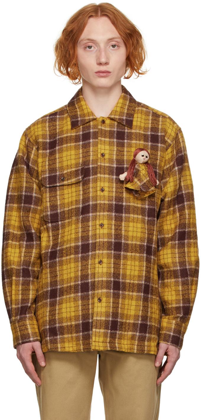 Yellow & Purple Doll Flannel Shirt