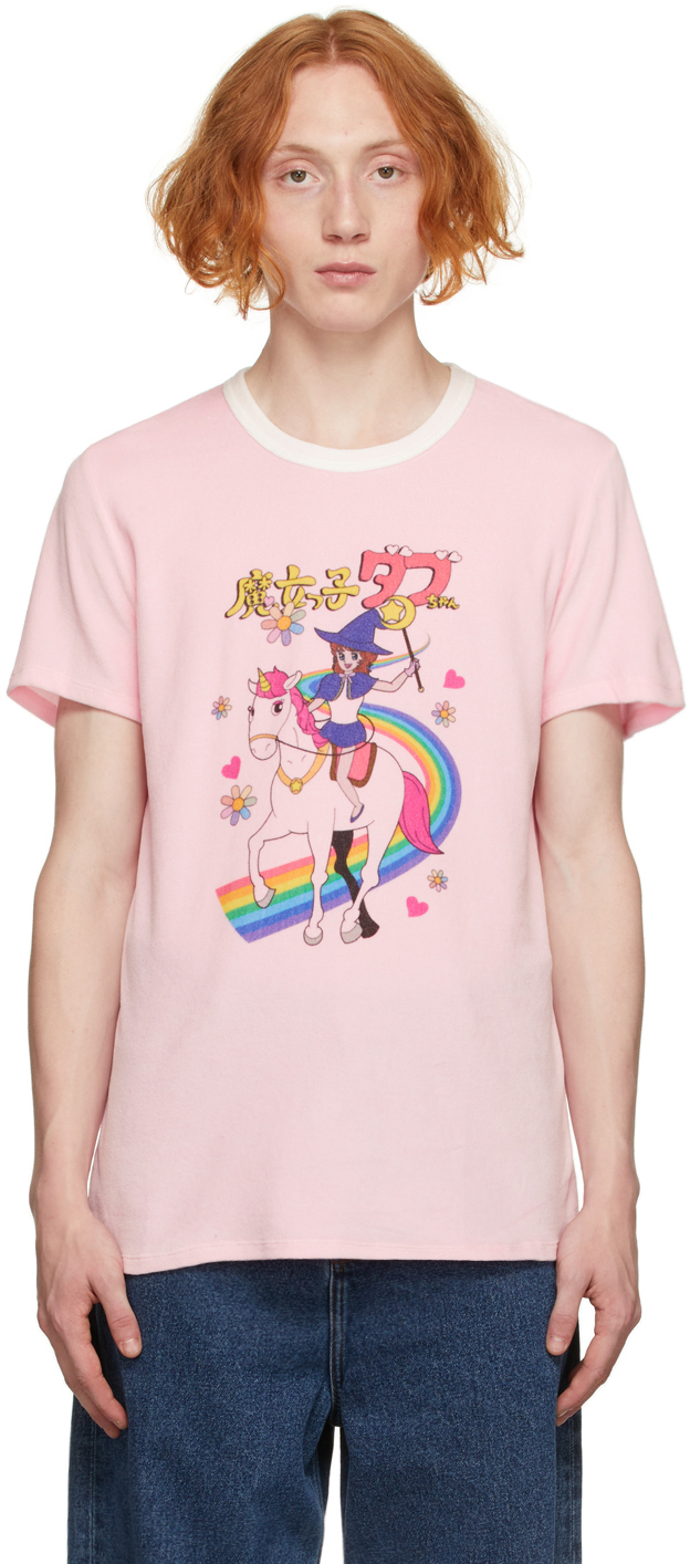 Pink Anime Velour T-Shirt