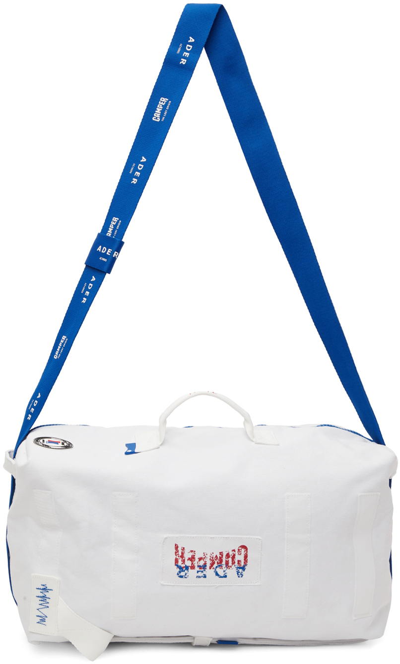 White Camper Edition Small Logo Duffle Bag