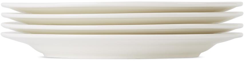 White Leonne Medium Salad Plate Set