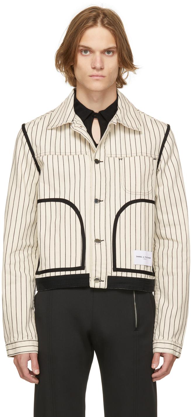 Off-White Denim Hickory Stripe Jacket