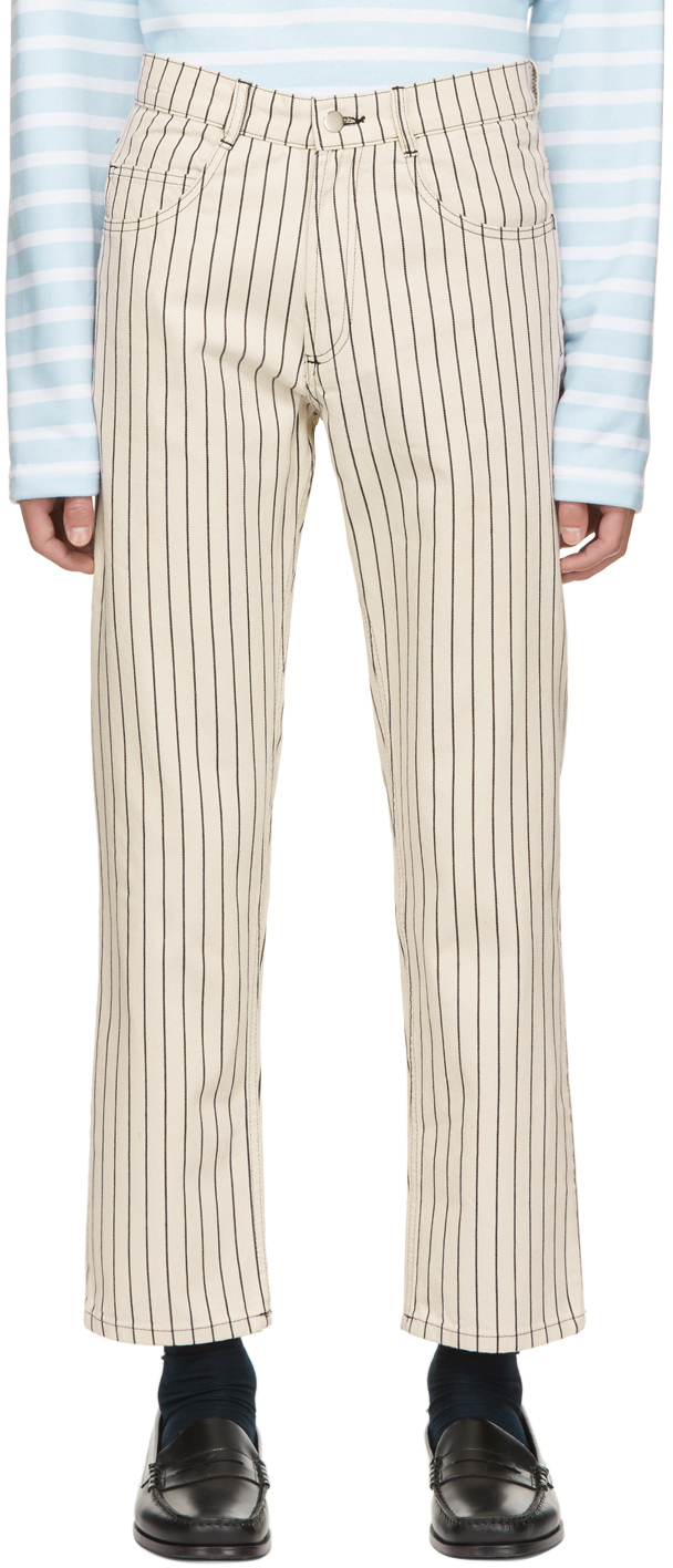 Off-White Hickory Stripe Jeans
