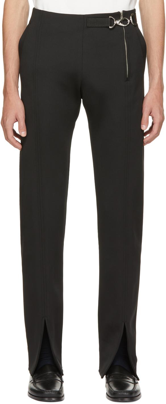 Black Side Zip Trousers